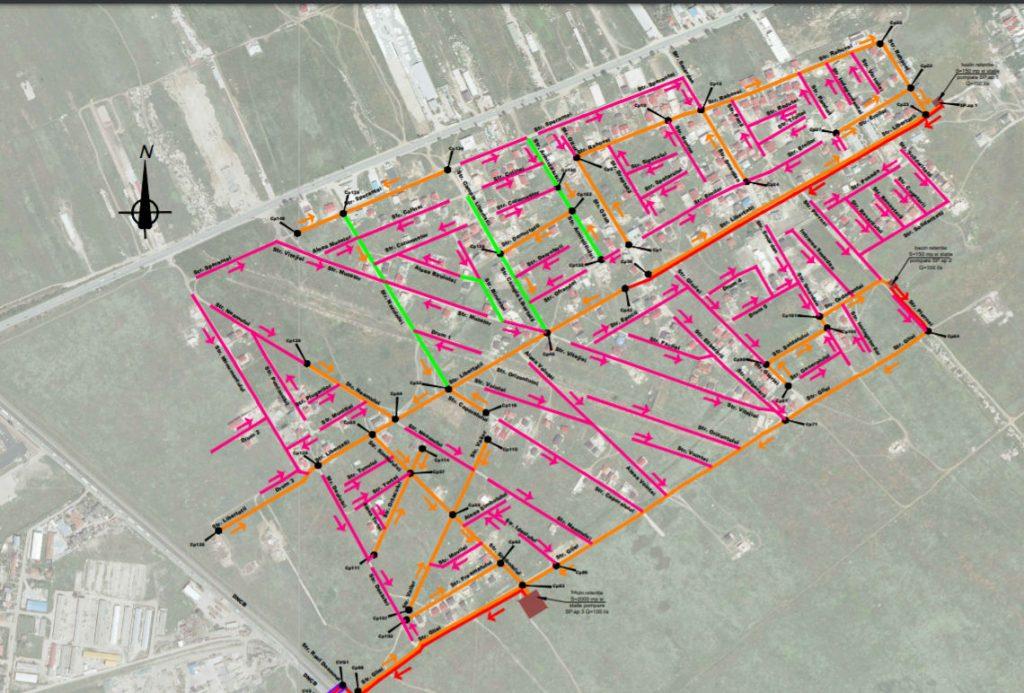 schema canalizare pluviala cartierul independentei bragadiru