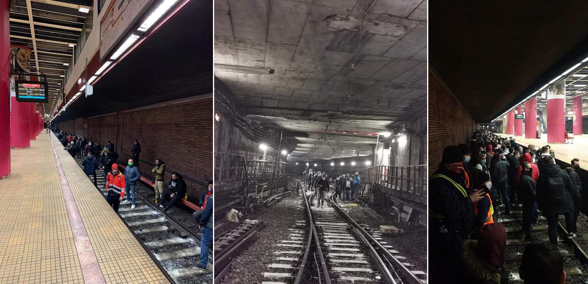 protest metrou bucuresti